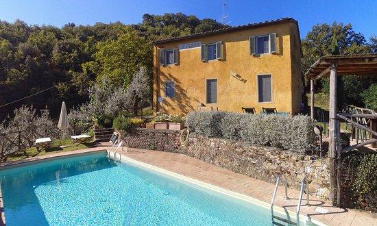 Mercatale Valdarno, Italia: Swimming pool - farmhouse Costa, Petrolo
