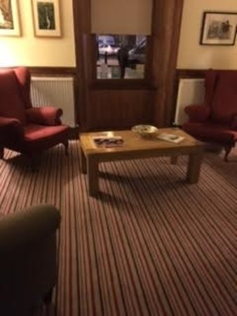 Tregaron, UK: Y Talbot - a section of the hotel's comfortable lounge