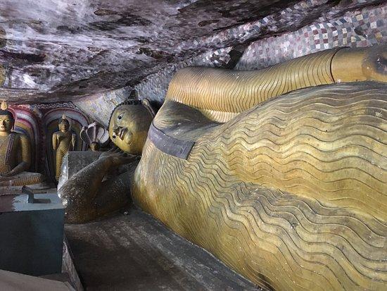 Dambulla, Sri Lanka: 涅槃像