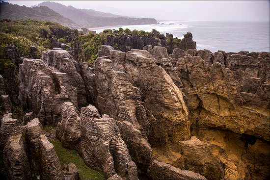 Punakaiki, New Zealand: Rock formation at Pancake Rocks NZ