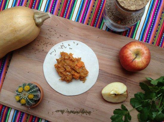 Plougastel Daoulas, Francja: Empanadas de saison au butternut