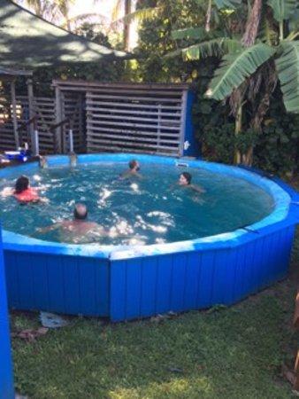 Dive Rarotonga: The dive pool - its deeper than it looks!