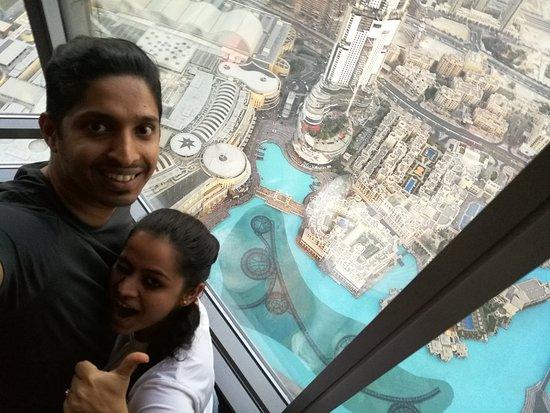 at the top Burj khalifa..floor 125
