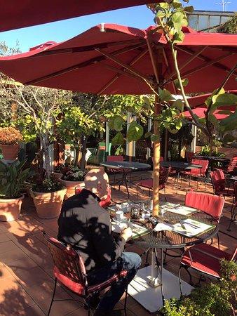 Breakfast on the terrace at the Inn