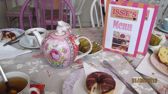 Issie's Handmade Chocolate: Colourful, mixed china
