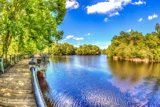 Conway, Karolina Południowa: One of the many spots to take in the view along the Waccamaw River on the Riverwalk!