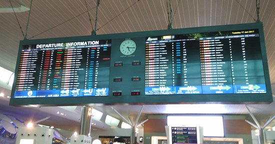 Sepang, Malaisie : Main departure information board