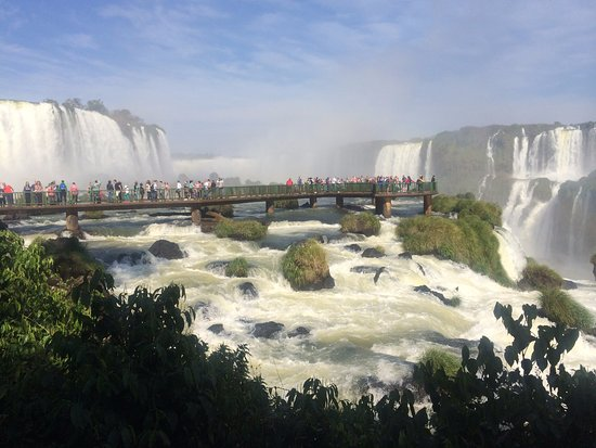 Cataratas do Iguaçu: The viewing platform. Warning - you get wet.