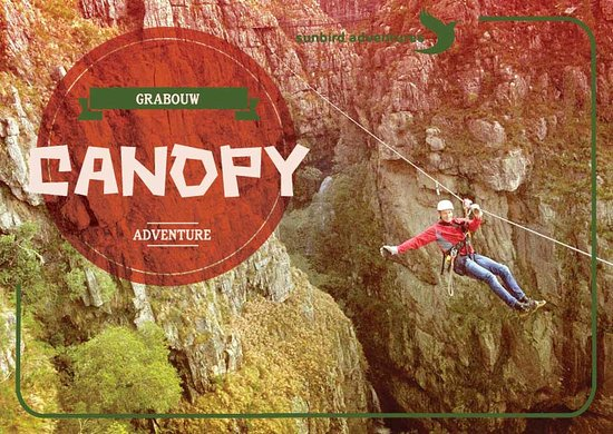 Grabouw, Republika Południowej Afryki: Can you canopy? Hang out in the Elgin Valley surrounded by the beautiful mountains and slide dow
