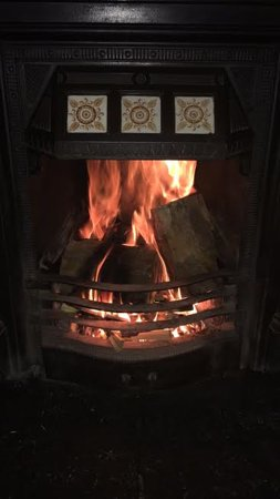 Llandyrnog, UK: Real log fire
