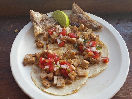 La Patrona de Playa: Pork Chop Tacos