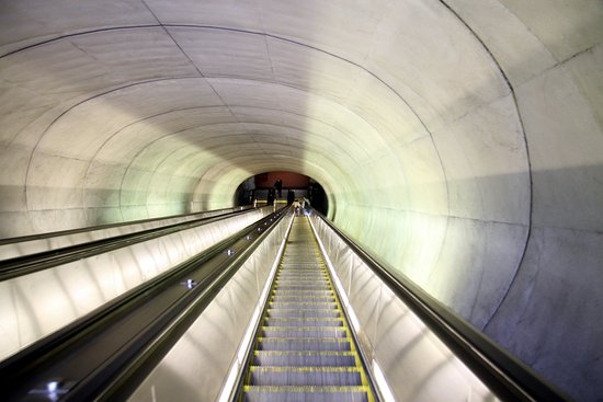 Dupont Circle: Escalator at Dupont Metro Station