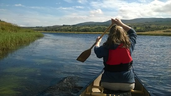 Invergordon, UK: Easy paddling on the scenic canoe tour.