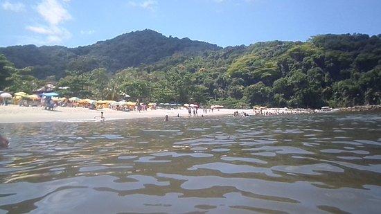 Boicucanga: Vista da água. Mar de poucas ondas, exceto em dias atípicos.