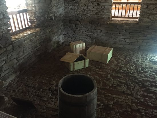 The cellar underneath Poplar Forest.