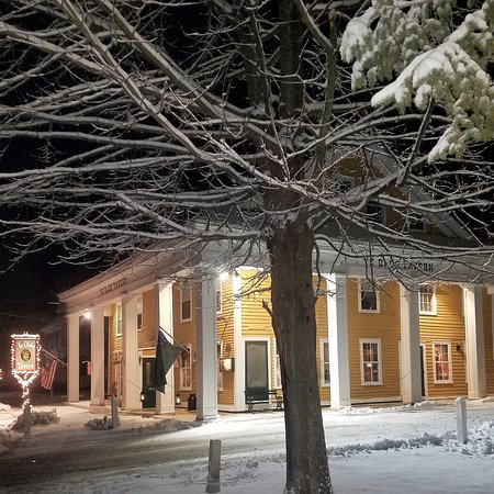 YE OLDE TAVERN: Another snowy evening in Vermont.