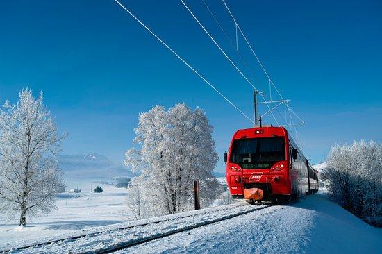 Appenzeller Bahnen Im Winter Linie St Gallen Gais Appenzell