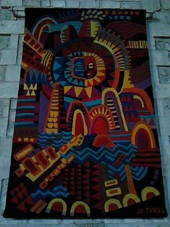 Saintes, France: Tapisserie représentant une des scènes de la Genèse