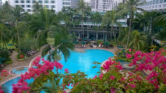 Shangri-La Hotel, Singapore: View from the balcony