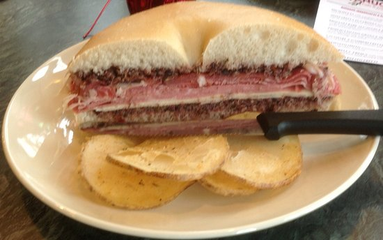 Netcong, NJ: Our Muffuletta Sandwich w/ Maria's spicy olive mix.