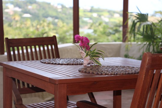 Friendship, Bequia: View from breakfast area