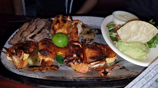 Cypress, TX: Chicken and steak fajitas