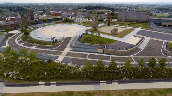 Dungannon, UK: Aeriel view of Hill of The O'Neill