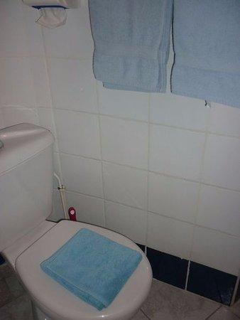 Torreilles, Francia: Salle de douche de la chambre familiale quatre couchages.