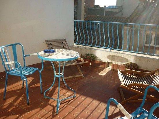 Torreilles, France: La terrasse.