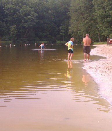 Newville, PA: Little beach area and lake at Col. Denning State Park, PA