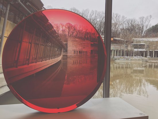 Bentonville, AR: Red lens that shows the building in a different prospective