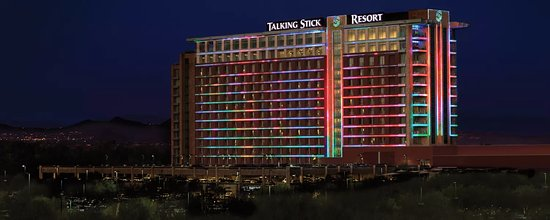 Talking Stick Resort building lights