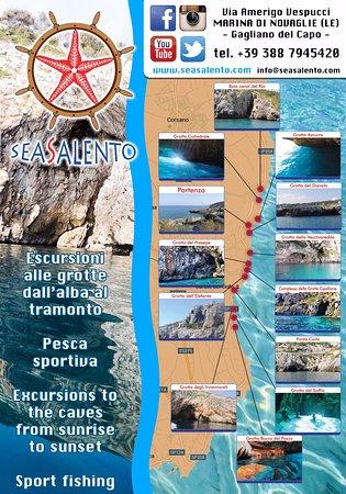 Marina di Novaglie, Italia: Non solo due ore di escursione....ma di storia, natura, divertimento con due soste bagno e aperi