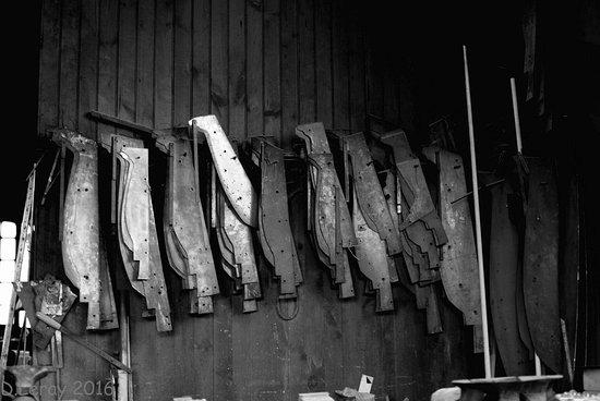 Villedieu-les-Poeles, Fransa: Les gabarits pour mouler les cloches