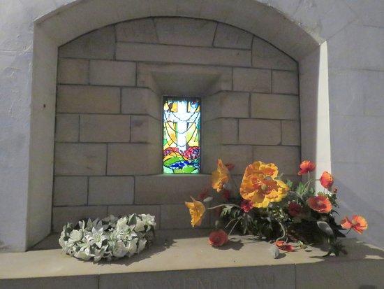 Culross, UK: modern stained glass