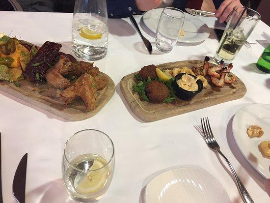 Salford, UK: sharing platters