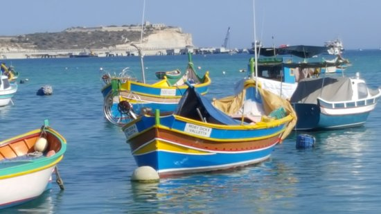 Marsaxlokk, Μάλτα: boats in the bay