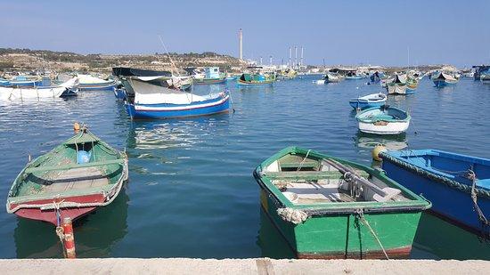 Marsaxlokk, Malta: boats in the bay