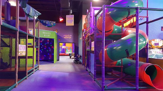 "North Fort Myers, FL: A look at our climbing tubes and entrance to Dance ""Groove Room"""