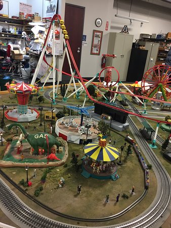Twin City Model Railroad Museum: Kids can run each of the rides on this amusement park exhibit