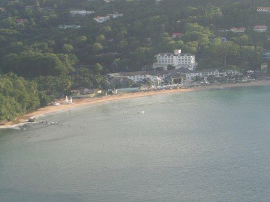Gros Islet, Sta. Lucía: View of Sandals La Toc