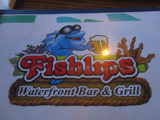 Fishlips Waterfront Bar & Grill: This is the logo on the menu.