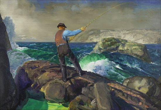 Amon Carter Museum of American Art: George Bellows (1882–1925), The Fisherman, 1917, oil on canvas, ACMAA