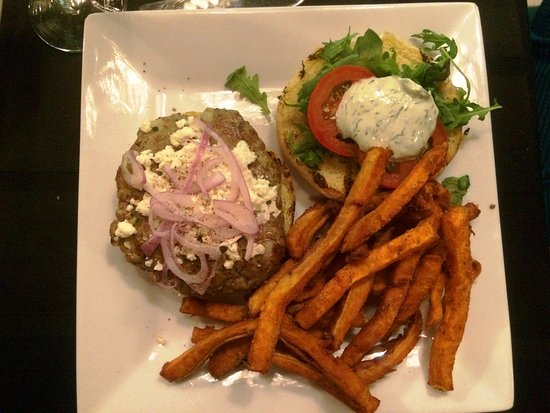 Get Stuffed : Lamb burger with sweet potato fried