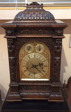Starkville, MS: Closeup of antique clock.