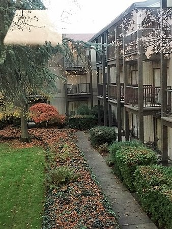 The Valley River Inn: Nicely landscaped interior courtyards