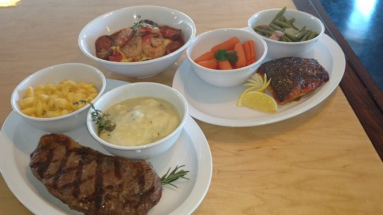 Buchanan, VA: NY Strip, Shrimp & Grits, Pan Seared Salmon