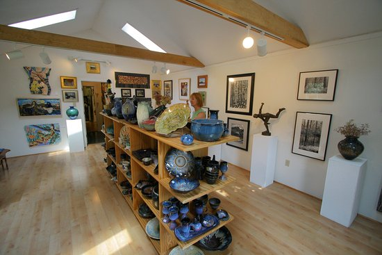 Westfield, NY: One of three Gallery rooms at Portage Hill Art Gallery.