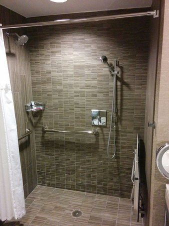 Accessible Shower, with pull down seat (easy to use) and handheld ...