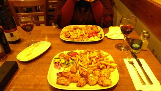 Ruislip, UK: Chicken shush delight